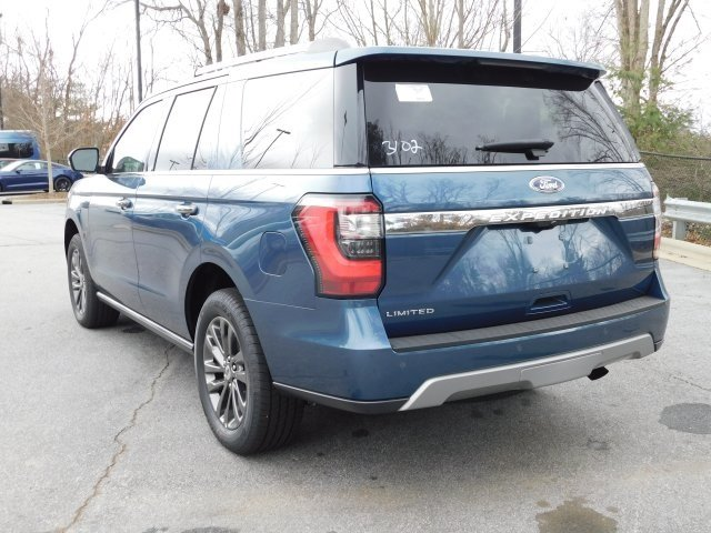 2019 Blue Metallic Ford Expedition Limited 4X4 SUV Automatic EcoBoost 3.5L V6 GTDi DOHC 24V Twin Turbocharged Engine