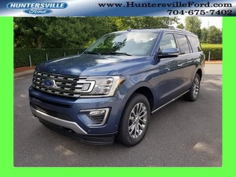 2018 Blue Metallic Ford Expedition Limited EcoBoost 3.5L V6 GTDi DOHC 24V Twin Turbocharged Engine 4X4 Automatic