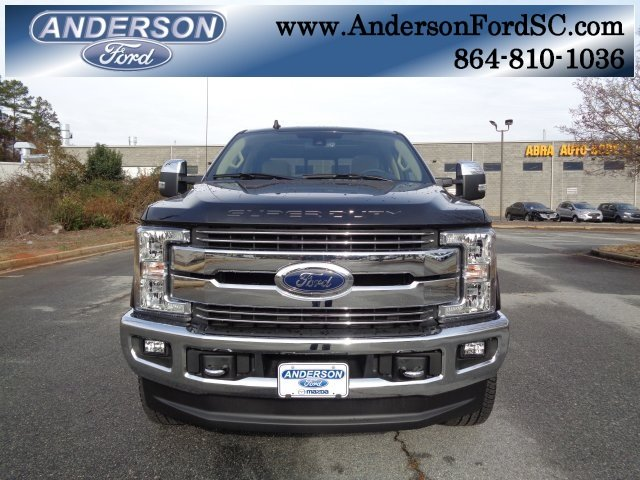 2019 Agate Black Ford Super Duty F-250 SRW Lariat 4 Door Power Stroke 6.7L V8 DI 32V OHV Turbodiesel Engine Truck