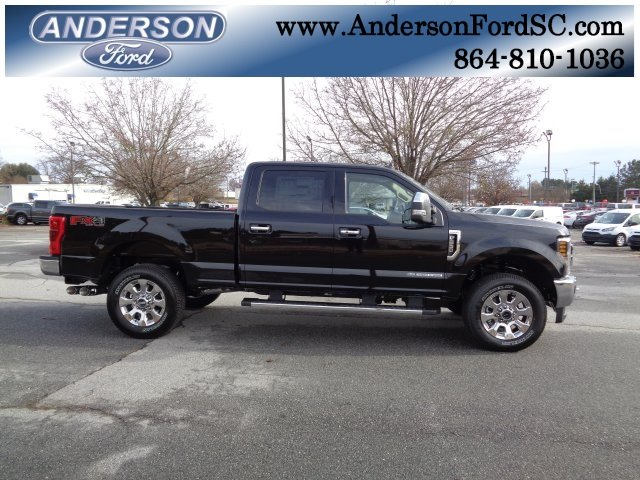 2019 Agate Black Ford Super Duty F-250 SRW Lariat 4X4 4 Door Automatic Power Stroke 6.7L V8 DI 32V OHV Turbodiesel Engine Truck