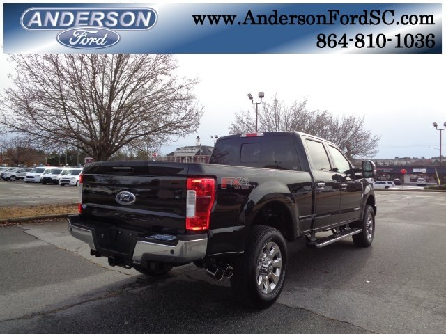 2019 Agate Black Ford Super Duty F-250 SRW Lariat Power Stroke 6.7L V8 DI 32V OHV Turbodiesel Engine Truck 4X4