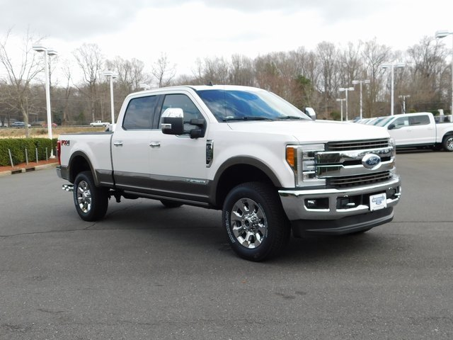 2019 Oxford White Ford Super Duty F-250 SRW King Ranch Truck 4 Door 4X4 Power Stroke 6.7L V8 DI 32V OHV Turbodiesel Engine