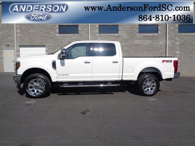 2019 White Ford Super Duty F-250 SRW Lariat 4 Door Automatic Power Stroke 6.7L V8 DI 32V OHV Turbodiesel Engine