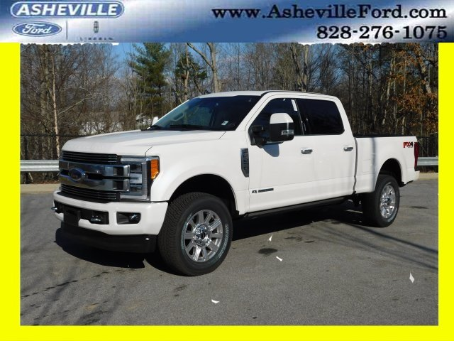 2019 White Platinum Metallic Tri-Coat Ford Super Duty F-250 SRW Limited 4 Door 4X4 Truck Automatic Power Stroke 6.7L V8 DI 32V OHV Turbodiesel Engine