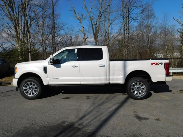 2019 White Platinum Metallic Tri-Coat Ford Super Duty F-250 SRW Limited Automatic Truck Power Stroke 6.7L V8 DI 32V OHV Turbodiesel Engine