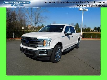 2019 White Metallic Ford F-150 Lariat Truck EcoBoost 3.5L V6 GTDi DOHC 24V Twin Turbocharged Engine 4X4 4 Door