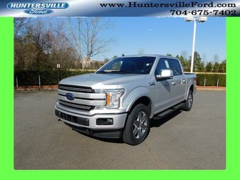 2019 Ingot Silver Metallic Ford F-150 Lariat EcoBoost 3.5L V6 GTDi DOHC 24V Twin Turbocharged Engine Truck Automatic