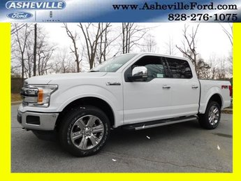 2019 Oxford White Ford F-150 Lariat EcoBoost 3.5L V6 GTDi DOHC 24V Twin Turbocharged Engine 4X4 4 Door
