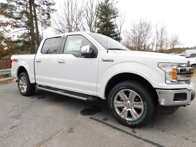 2019 Oxford White Ford F-150 Lariat 4 Door EcoBoost 3.5L V6 GTDi DOHC 24V Twin Turbocharged Engine Automatic