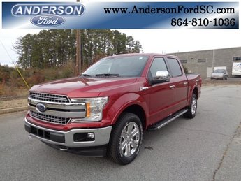 2019 Ruby Red Metallic Tinted Clearcoat Ford F-150 Lariat Truck 4 Door EcoBoost 3.5L V6 GTDi DOHC 24V Twin Turbocharged Engine Automatic