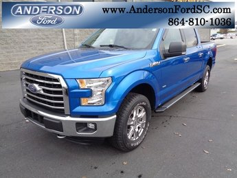 2016 Blue / Gray Ford F-150 XLT 4 Door 4X4 EcoBoost 3.5L V6 GTDi DOHC 24V Twin Turbocharged Engine Automatic
