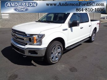 2018 Oxford White Ford F-150 XLT 4 Door EcoBoost 3.5L V6 GTDi DOHC 24V Twin Turbocharged Engine 4X4