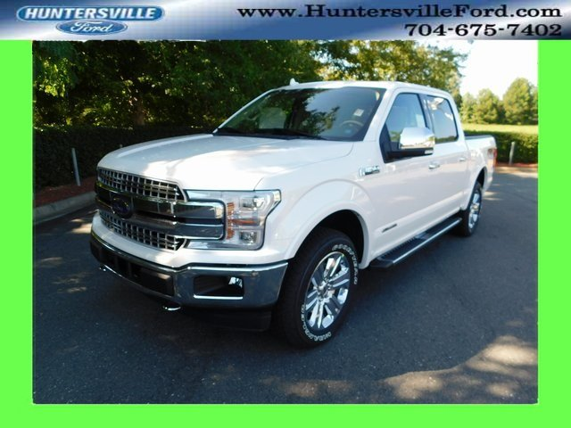2018 White Metallic Ford F-150 Lariat 4X4 Truck Automatic 3.0L Diesel Turbocharged Engine 4 Door