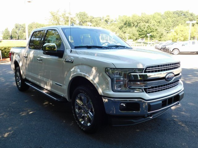 2018 White Metallic Ford F-150 Lariat 3.0L Diesel Turbocharged Engine Automatic Truck 4X4