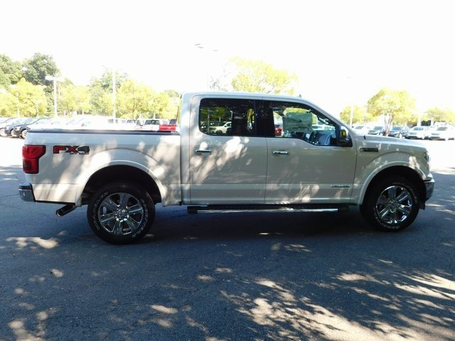 2018 White Metallic Ford F-150 Lariat Truck 3.0L Diesel Turbocharged Engine Automatic