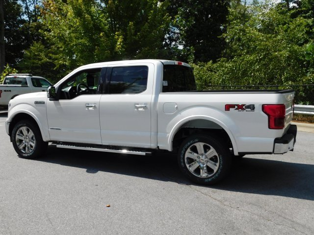 2018 White Metallic Ford F-150 Lariat Truck Automatic 4X4 3.0L Diesel Turbocharged Engine