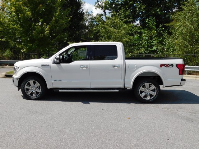 2018 White Metallic Ford F-150 Lariat Truck Automatic 3.0L Diesel Turbocharged Engine 4X4 4 Door