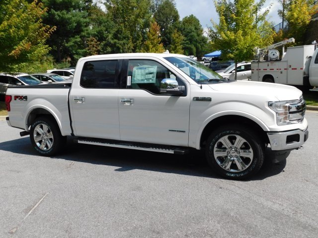2018 White Metallic Ford F-150 Lariat Automatic 4X4 3.0L Diesel Turbocharged Engine 4 Door