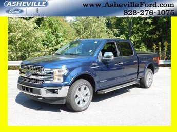 2018 Blue Ford F-150 Lariat 4 Door 4X4 3.0L Diesel Turbocharged Engine Truck