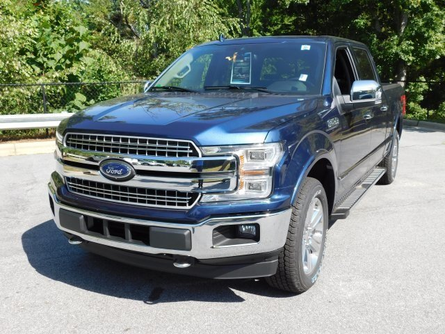 2018 Blue Ford F-150 Lariat 3.0L Diesel Turbocharged Engine 4X4 Automatic Truck
