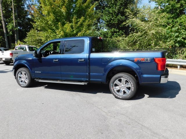 2018 Blue Ford F-150 Lariat 4X4 Automatic 4 Door 3.0L Diesel Turbocharged Engine Truck