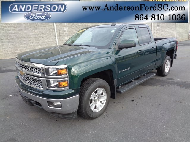2015 Rainforest Green Metallic Chevy Silverado 1500 LT EcoTec3 4.3L V6 Engine Truck 4 Door