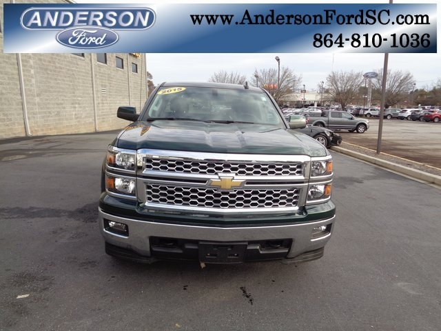 2015 Rainforest Green Metallic Chevy Silverado 1500 LT 4X4 4 Door Truck