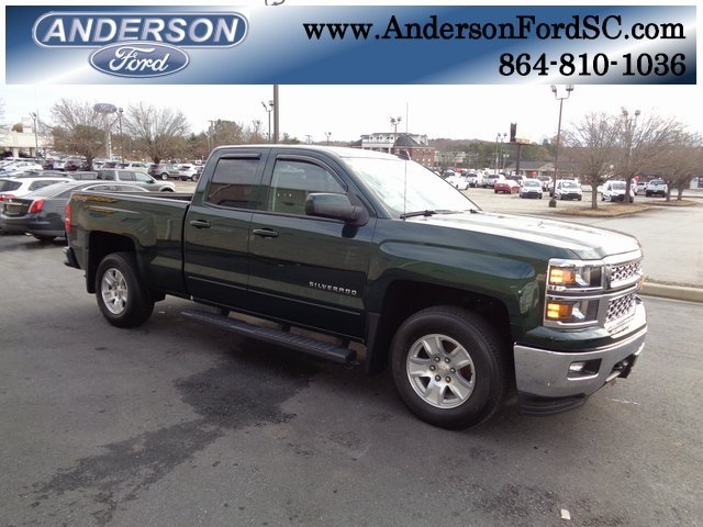 2015 Rainforest Green Metallic Chevy Silverado 1500 LT EcoTec3 4.3L V6 Engine Automatic 4X4 4 Door Truck
