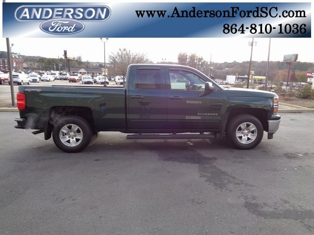 2015 Rainforest Green Metallic Chevy Silverado 1500 LT Automatic 4X4 4 Door EcoTec3 4.3L V6 Engine Truck