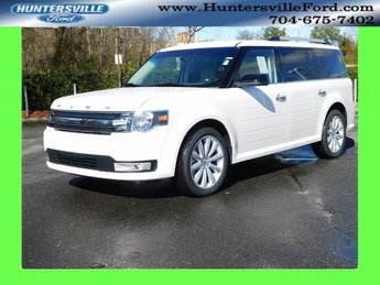 2019 White Platinum Metallic Tri-Coat Ford Flex SEL 4 Door 3.5L V6 Ti-VCT Engine SUV