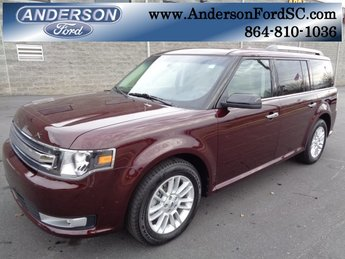 2019 Burgundy Velvet Metallic Tinted Clearcoat Ford Flex SEL FWD SUV Automatic 4 Door 3.5L V6 Ti-VCT Engine