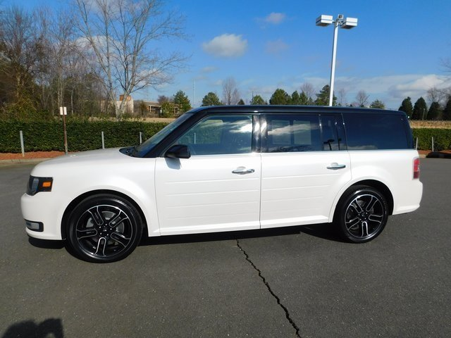 2015 White Platinum Metallic Tri-Coat Ford Flex SEL Automatic SUV 3.5L V6 Ti-VCT Engine 4 Door