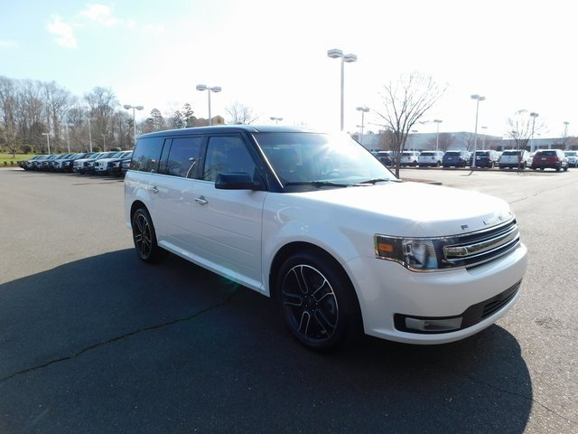 2015 White Platinum Metallic Tri-Coat Ford Flex SEL 4 Door Automatic SUV