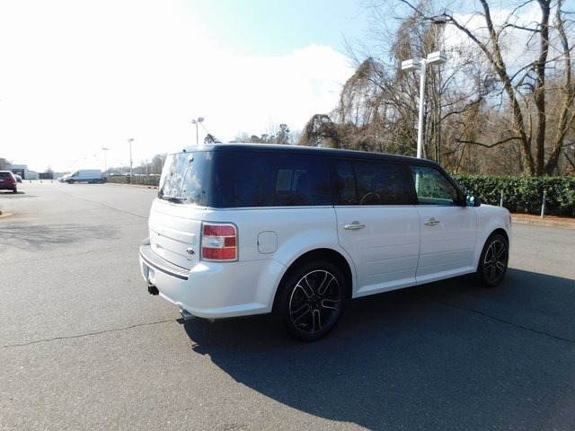 2015 White Platinum Metallic Tri-Coat Ford Flex SEL AWD 3.5L V6 Ti-VCT Engine 4 Door