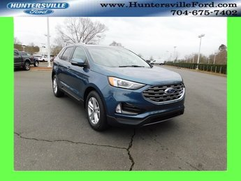 2019 Blue Metallic Ford Edge SEL 4 Door 2.0L Engine FWD