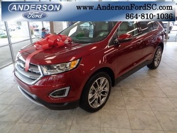 2018 Ruby Red Metallic Tinted Clearcoat Ford Edge Titanium FWD 4 Door SUV 3.5L V6 Ti-VCT Engine Automatic