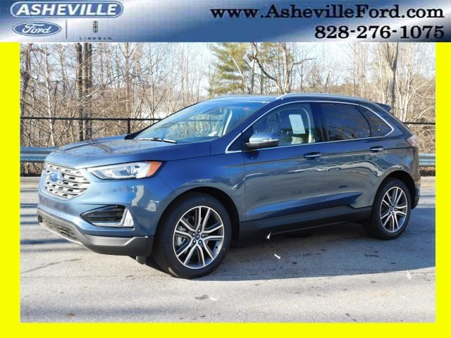 2019 Blue Metallic Ford Edge Titanium SUV 4 Door 2.0L Engine