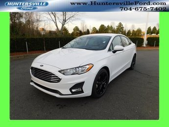 2019 Oxford White Ford Fusion SE EcoBoost 1.5L I4 GTDi DOHC Turbocharged VCT Engine FWD 4 Door