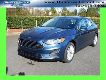 2019 Blue Metallic Ford Fusion SE FWD EcoBoost 1.5L I4 GTDi DOHC Turbocharged VCT Engine 4 Door Automatic