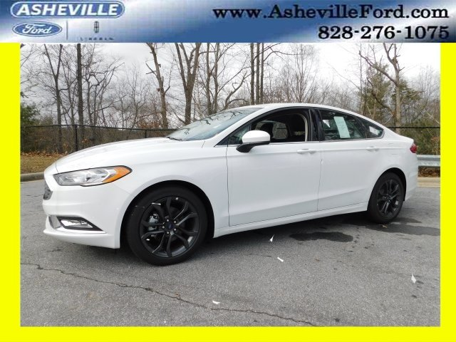 2018 Oxford White Ford Fusion SE Automatic EcoBoost 1.5L I4 GTDi DOHC Turbocharged VCT Engine FWD 4 Door