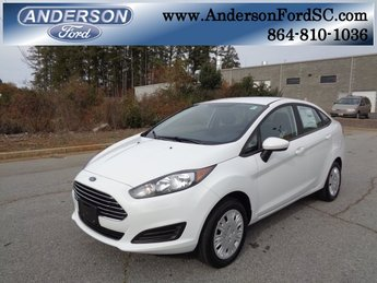 2019 Oxford White Ford Fiesta S 1.6L I4 Ti-VCT Engine Sedan FWD 4 Door Automatic