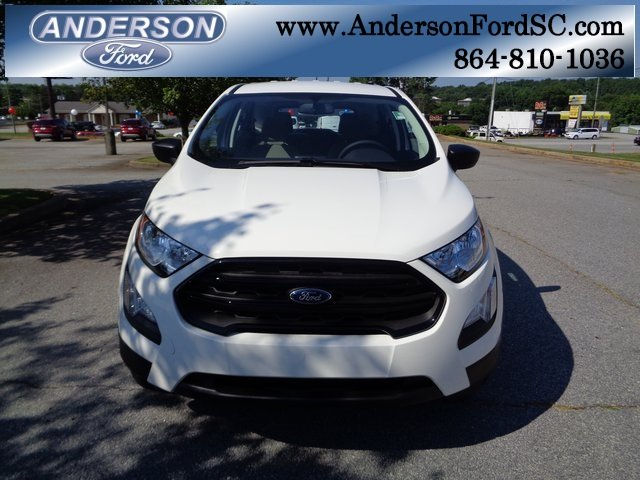 2018 Diamond White Ford EcoSport S SUV FWD EcoBoost 1.0L I3 GTDi DOHC Turbocharged VCT Engine