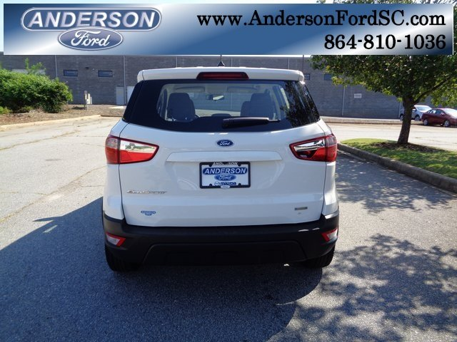 2018 Ford EcoSport S Automatic EcoBoost 1.0L I3 GTDi DOHC Turbocharged VCT Engine 4 Door SUV FWD