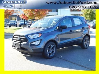 2018 Smoke Metallic Ford EcoSport S Automatic FWD 4 Door SUV EcoBoost 1.0L I3 GTDi DOHC Turbocharged VCT Engine