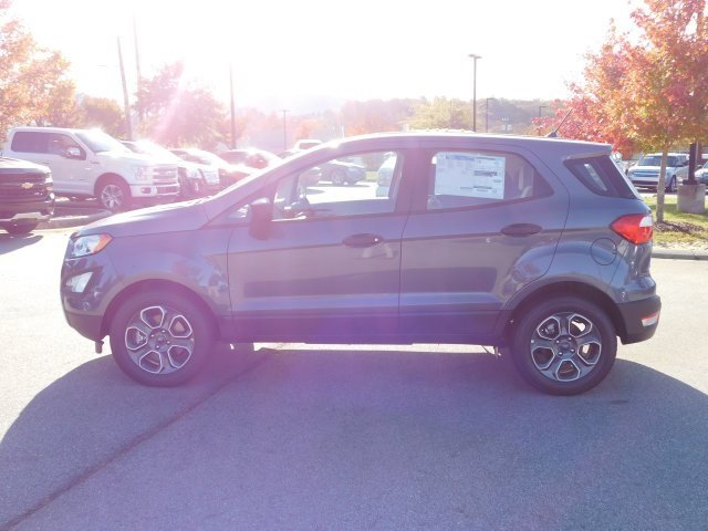 2018 Smoke Metallic Ford EcoSport S 4 Door Automatic EcoBoost 1.0L I3 GTDi DOHC Turbocharged VCT Engine