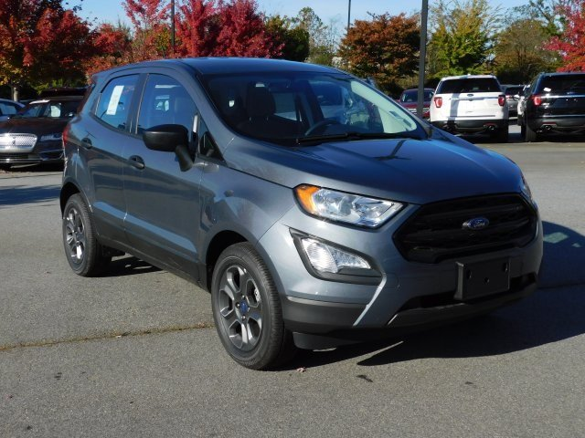 2018 Smoke Metallic Ford EcoSport S 4 Door FWD EcoBoost 1.0L I3 GTDi DOHC Turbocharged VCT Engine SUV Automatic