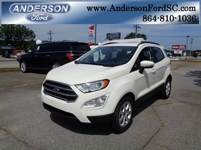 2018 Diamond White Ford EcoSport SE Automatic SUV FWD 4 Door EcoBoost 1.0L I3 GTDi DOHC Turbocharged VCT Engine