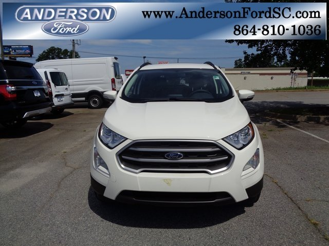 2018 Diamond White Ford EcoSport SE EcoBoost 1.0L I3 GTDi DOHC Turbocharged VCT Engine Automatic FWD SUV 4 Door
