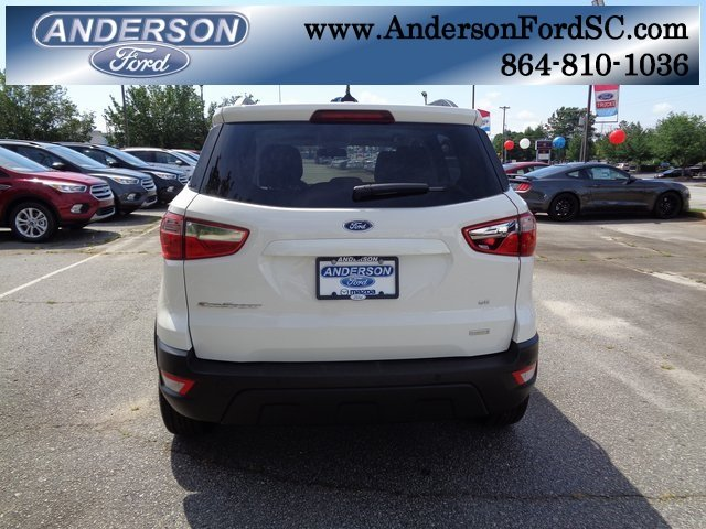 2018 Diamond White Ford EcoSport SE FWD EcoBoost 1.0L I3 GTDi DOHC Turbocharged VCT Engine SUV 4 Door Automatic
