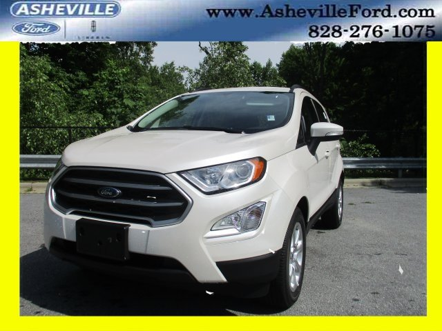 2018 White Platinum Clearcoat Metallic Ford EcoSport SE FWD EcoBoost 1.0L I3 GTDi DOHC Turbocharged VCT Engine SUV 4 Door